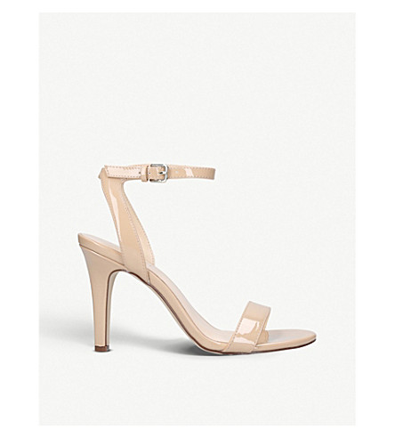 NINE WEST Aniston patent-effect sandals (Nude