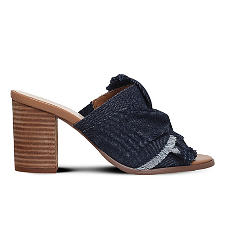 NINE WEST Barbara denim mules (Navy