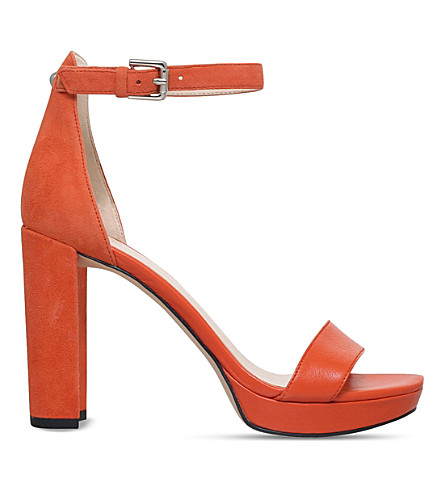 NINE WEST Dempsey suede and smooth leather sandals (Orange
