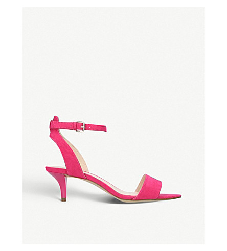 NINE WEST Lesia open-toe faux-suede sandals (Fushia