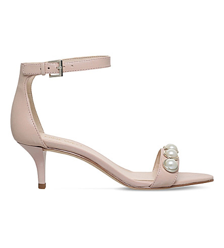 NINE WEST Lipstick embellished heel (Pale+pink