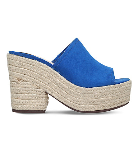 NINE WEST Skyrocket backless suede mules (Blue
