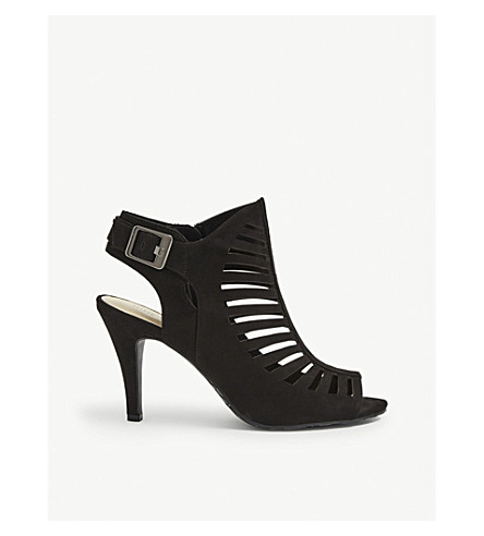 NINE WEST Suite peep-toe cutout sandals (Black