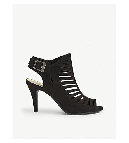 NINE WEST Suite peep-toe cut-out sandals (Black