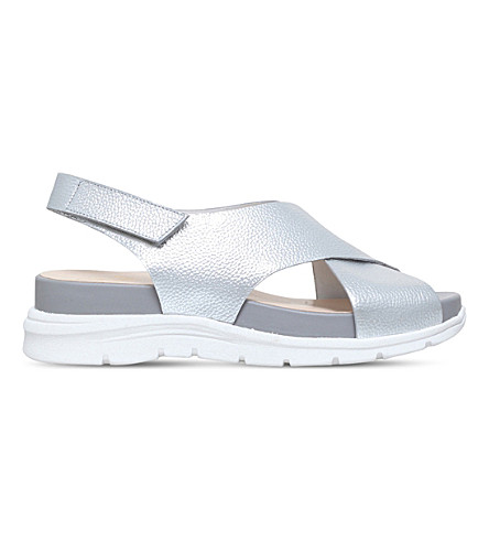 NINE WEST Vizara leather sandals (Silver