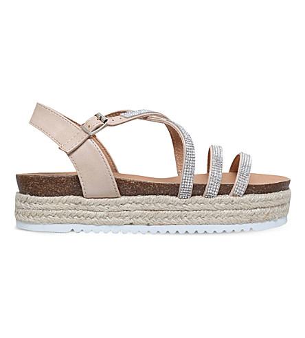 MISS KG Ramone flatform espadrille sandals (Nude