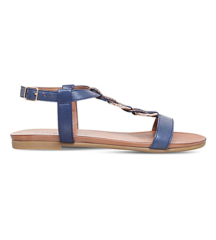 CARVELA COMFORT Shay leather sandals (Navy