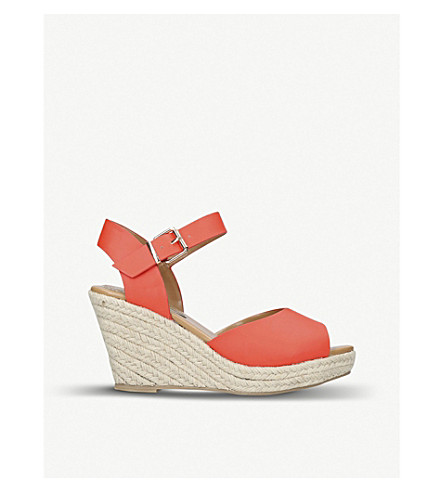 MISS KG Paisley espadrille wedge sandals Orange Best Seller Cheap Online Sale The Cheapest Cheap Brand New Unisex Pay With Paypal Choice Cheap Price 3xnSjxhF8