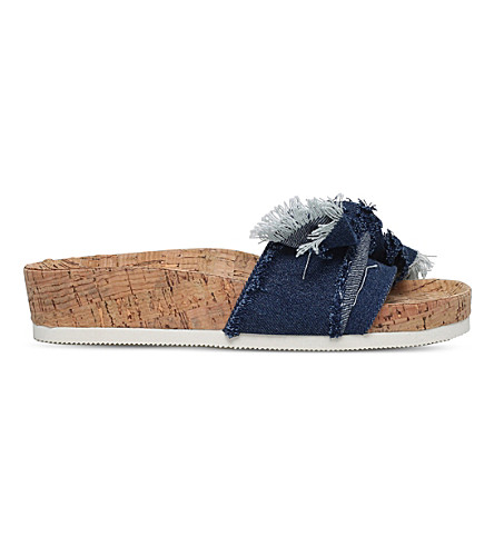 MISS KG Denim slider sandals (Blue