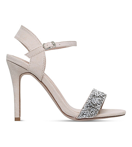 MISS KG Cherry suede heels (Nude