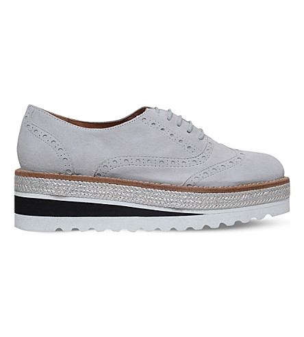 CARVELA Lowdown suede flatform brogues (Grey