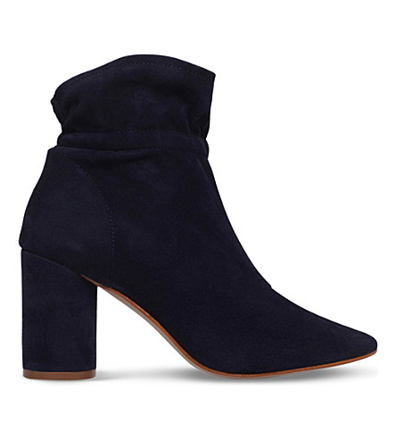 KG KURT GEIGER Raglan suede heeled ankle boots (Navy