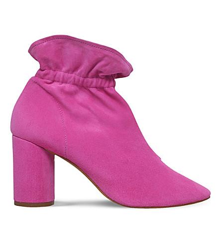 KG KURT GEIGER Raglan suede heeled ankle boots (Pink