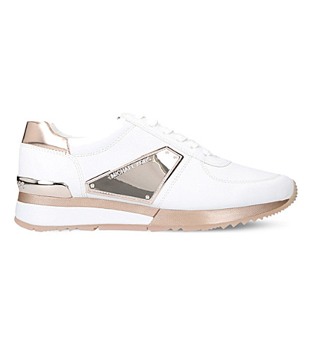 MICHAEL MICHAEL KORS Allie metallic leather trainers (Pink+comb