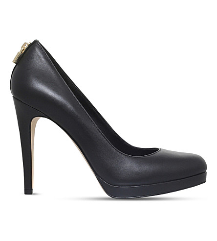 MICHAEL MICHAEL KORS Antoinette leather courts (Black