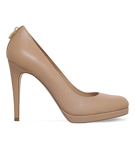 MICHAEL MICHAEL KORS Antoinette leather courts (Nude