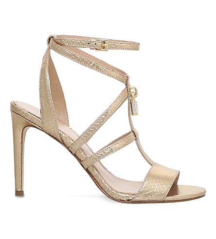 MICHAEL MICHAEL KORS Antoinette metallic-leather sandals (Gold