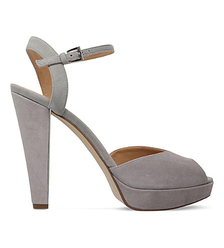 MICHAEL MICHAEL KORS Claire suede sandals (Grey/light