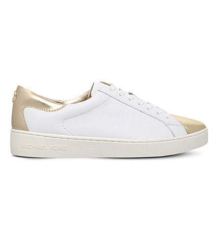 MICHAEL MICHAEL KORS Frankie leather trainers (White