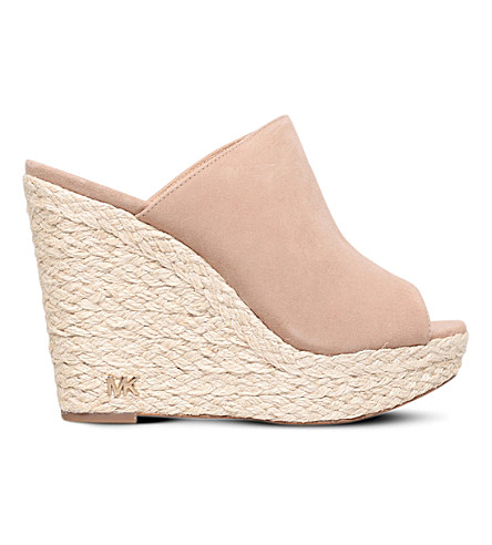 MICHAEL MICHAEL KORS Hastings suede wedge sandals (Beige