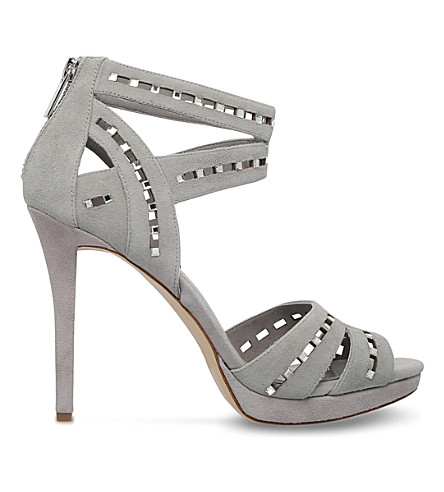 MICHAEL MICHAEL KORS Honey suede heeled sandals (Grey/light
