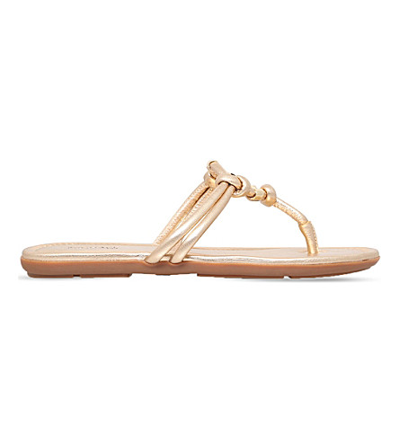 MICHAEL MICHAEL KORS Kinley metallic-leather sandals (Gold