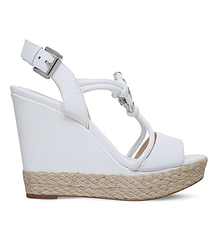 MICHAEL MICHAEL KORS Kinley leather espadrilles (White