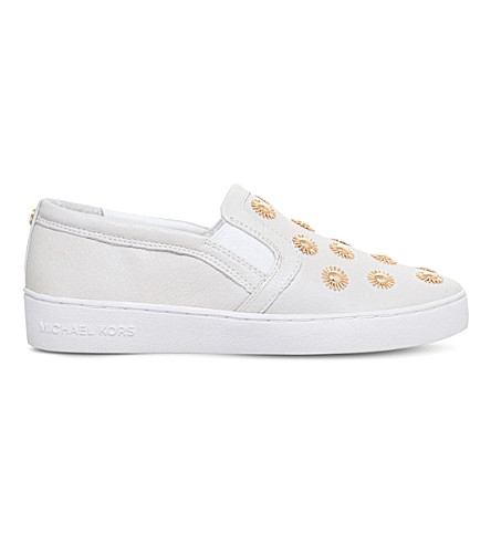 MICHAEL MICHAEL KORS Leo leather skate shoes (White