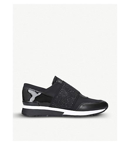 MICHAEL MICHAEL KORS Mk leather and textile trainers (Black