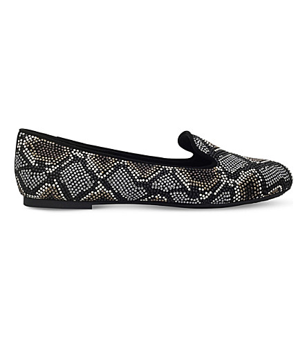 MICHAEL MICHAEL KORS Natasha embellished suede loafers (Blk/other