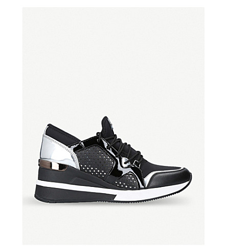 MICHAEL MICHAEL KORS Scout metallic-detail trainers (Black