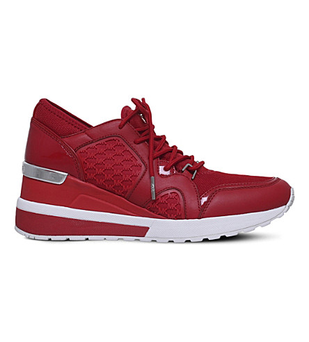 MICHAEL MICHAEL KORS Scout textile and leather trainers (Red