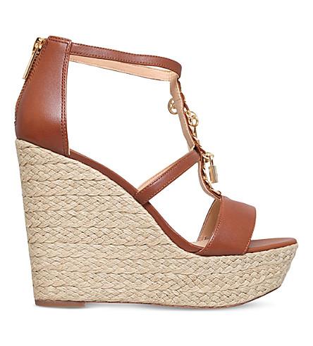 MICHAEL MICHAEL KORS Suki leather platform sandals (Tan