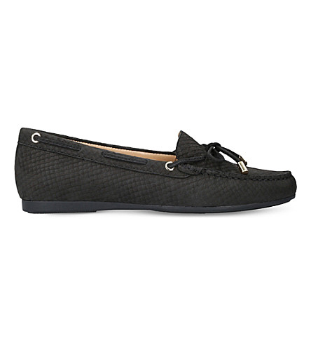 MICHAEL MICHAEL KORS Sutton leather moccasins (Black