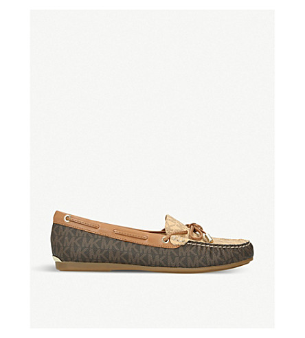 MICHAEL MICHAEL KORS Sutton leather moccasins (Brown