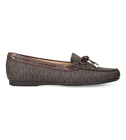 MICHAEL MICHAEL KORS Sutton leather moccasins (Dk.brn+com