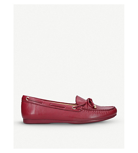 MICHAEL MICHAEL KORS Sutton slip-on leather moccasins (Red/dark