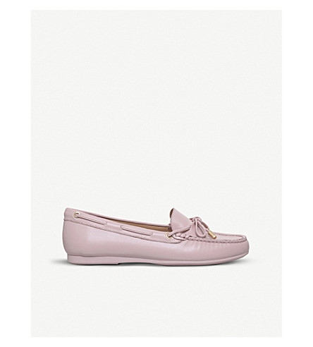 MICHAEL MICHAEL KORS Sutton slip-on leather moccasins (Pale+pink