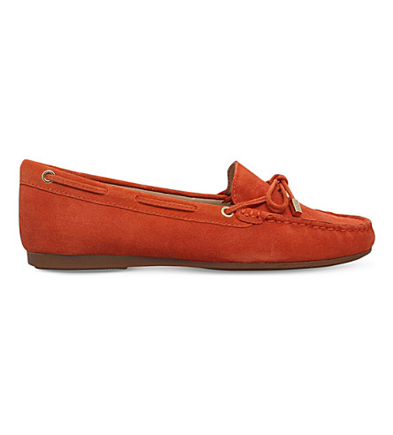 MICHAEL MICHAEL KORS Sutton suede moccasins (Orange