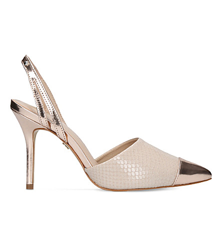 KG KURT GEIGER Bree leather heeled shoes (Nude