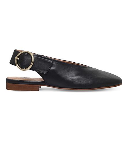 CARVELA Luna slingback leather courts (Black