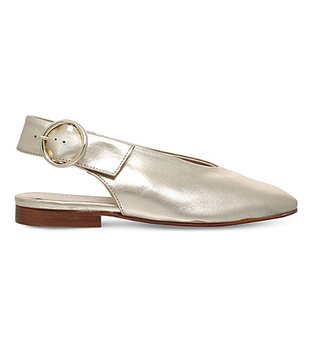 CARVELA Luna slingback metallic courts (Gold