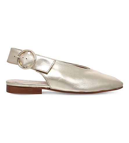 CARVELA 月 slingback 金属宫廷鞋 (金