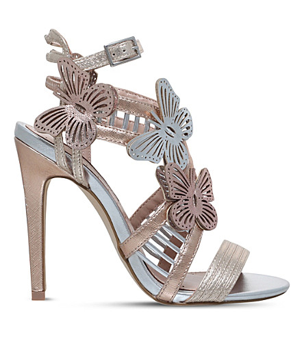 MISS KG Flourish butterfly embellished heels (Metal+comb