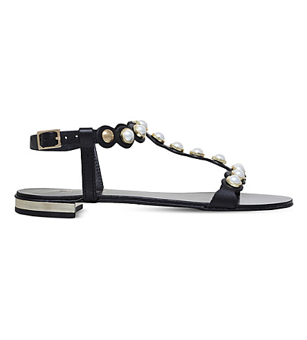 CARVELA Kando leather sandals (Black
