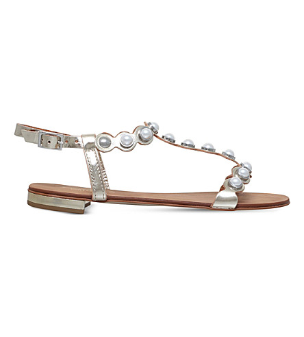 CARVELA Kando metallic leather sandals (Gold