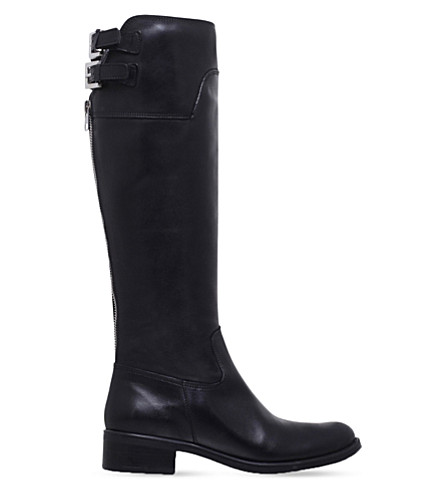 CARVELA Weather knee-high leather boots (Black