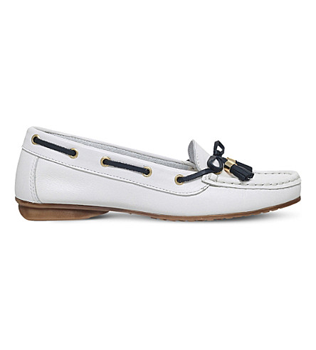 NINE WEST Jerry leather loafers (White