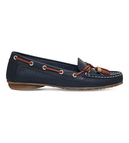 NINE WEST Jerry tasselled leather loafers (Navy