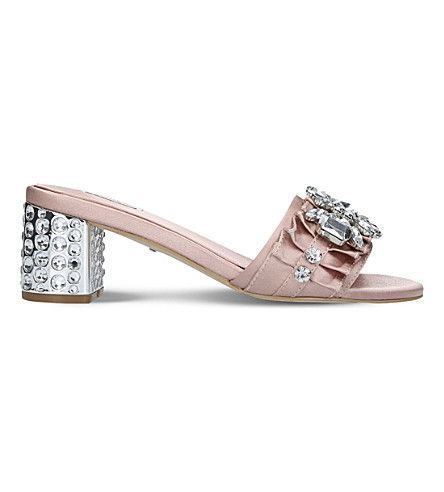 CARVELA Kascade studded satin sandals (Nude
